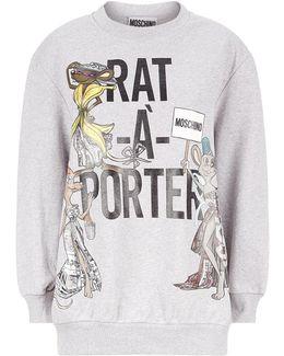 Printed Oversized Sweatshirt