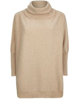 Slouchy Roll Neck Cashmere Jumper