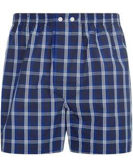 Royal White Check Boxer Shorts