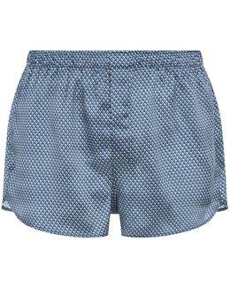 Modern Fit Diamond Illusion Silk Boxer Shorts