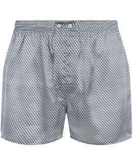 Classic Fit Diamond Illusion Silk Boxer Shorts
