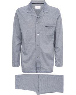 Houndstooth Jersey Pyjamas Set