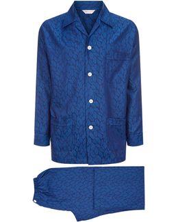 Pairs Leaf Jacquard Pyjama Set