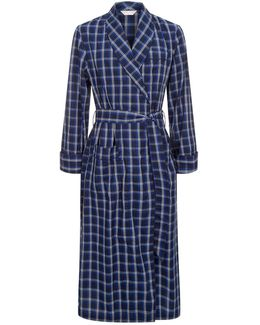 Large Check Dressing Gown