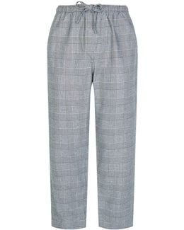 Check Cotton Lounge Trousers