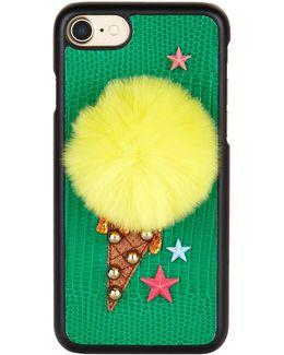 Ice-cream Fur-embellished Iphone® 7 Case