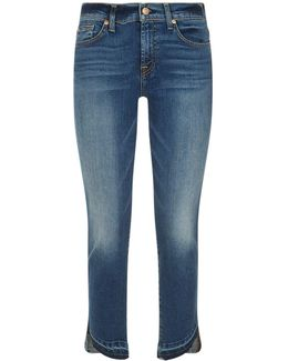 Roxanne Cropped Frayed Hem Jeans