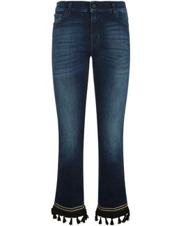 Cropped Boot Tassel Hem Jeans