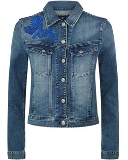 Classic Trucker Embroidered Denim Jacket