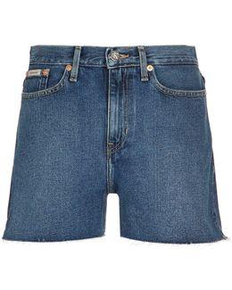 Frayed Hem Cut-off Shorts