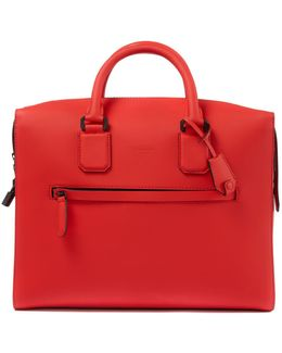 Satin Leather Eaton Briefcase