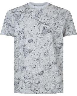 Cosmos Print T-shirt