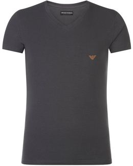 V-neck Logo T-shirt