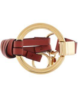 Leather Circle Bracelet
