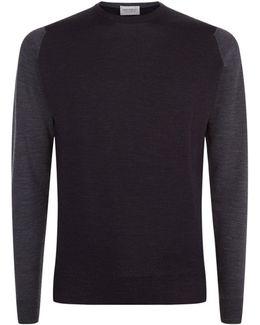 Contrast Sleeves Merino Wool Sweater