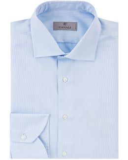Tonal Herringbone Formal Shirt