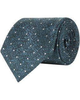 Polka Dot Grained Silk Tie