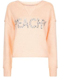 Marlon Embellished Peachy Sweater