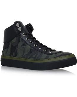 Argyle Camo High-top Sneakers