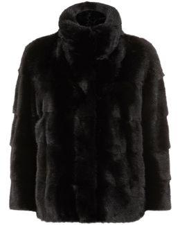 3⁄4-length Sleeve Mink Fur Jacket