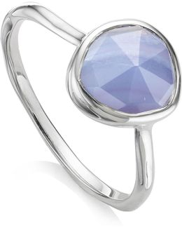 Siren Blue Lace Agate Stacking Ring
