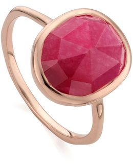 Siren Medium Pink Quartz Stacking Ring