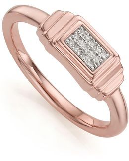 Baja Deco Diamond Ring