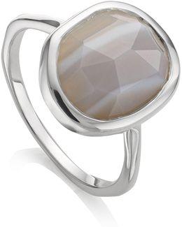 Medium Siren Grey Agate Stacking Ring