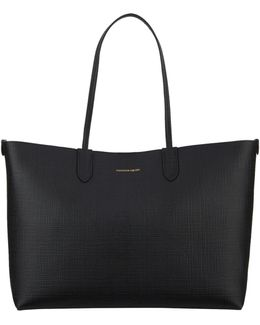 Textured Leather Shopper