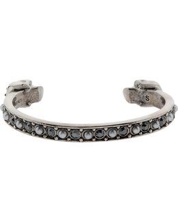 Embellished Pearl Skulls Bracelet