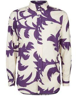 All-over Leaf Print Shirt