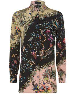 Wild Paisley Silk Shirt