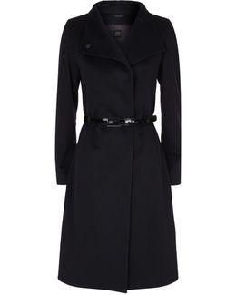 Belted Funnel Neck Coat