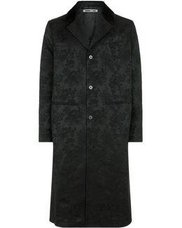 Curtis Tonal Floral Jacquard Coat