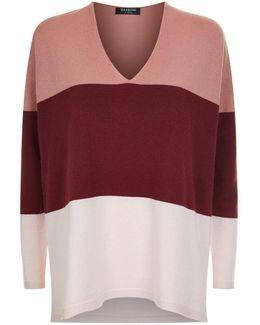 V-neck Colour Block Sweater