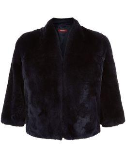 Cropped Rabbit Fur Jacket
