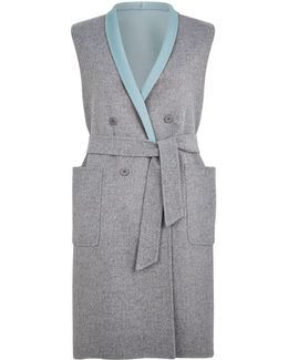 Double Face Reversible Belted Waistcoat