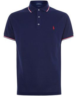 Stripe Trim Classic-fit Polo Shirt