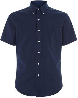Slim-fit Seersucker Short Sleeve Shirt