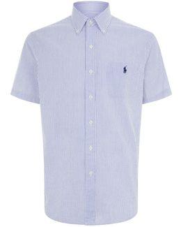 Striped Seersucker Short Sleeve Shirt