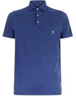 Embroidered Logo Cotton Polo Shirt