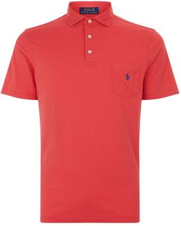 Embroidered Logo Pocket Cotton Polo Shirt