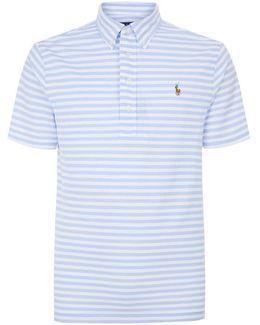 Striped Oxford Knit Polo Shirt
