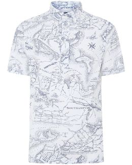 Map Print Polo Shirt