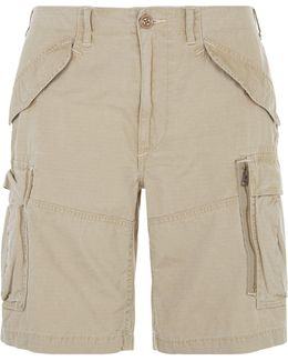 Classic Fit Cotton Cargo Shorts