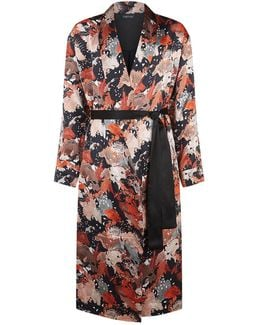 Printed Silk Dressing Gown