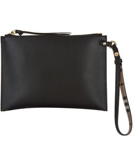 Grained Leather Pouch