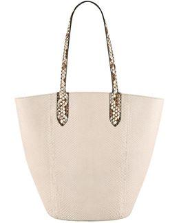 Small Python Basket Bag
