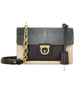 Small Aileen Leather Shoulder Bag