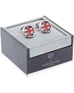 Rotating Union Jack Cufflinks